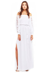 'NERIDA' MAXI DRESS, WHITE