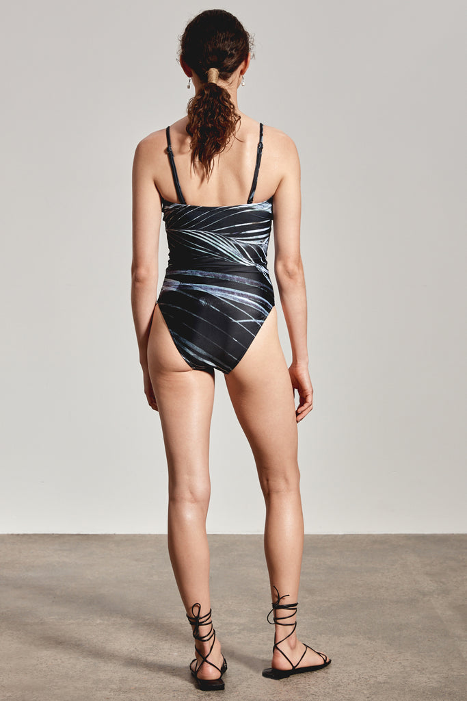 'ALINTA' ONE-PIECE, BLACK DHINAWAN PRINT - ARRIVING END NOV