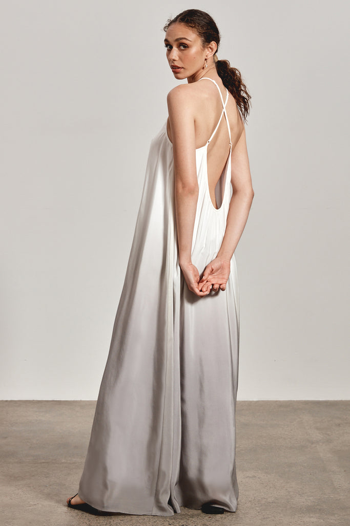 'BINDI' MAXI DRESS, ASH OMBRE
