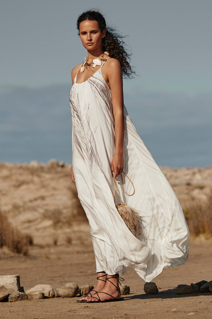 'BINDI' MAXI DRESS, WHITE DHINAWAN PRINT - ARRIVING END NOV