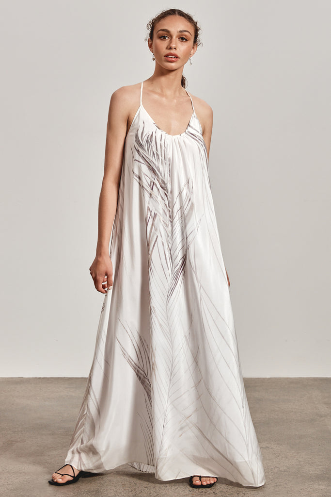 'BINDI' MAXI DRESS, WHITE DHINAWAN PRINT