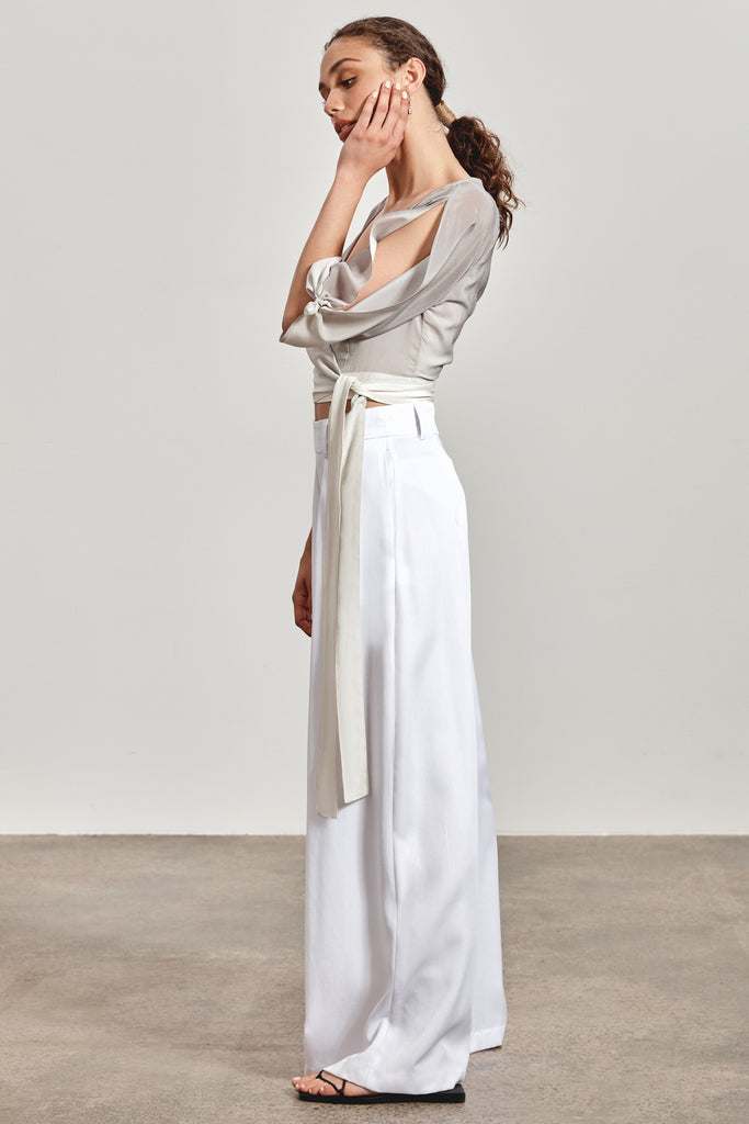 'KIRRA' WRAP TOP, ASH OMBRE - ARRIVING DECEMBER