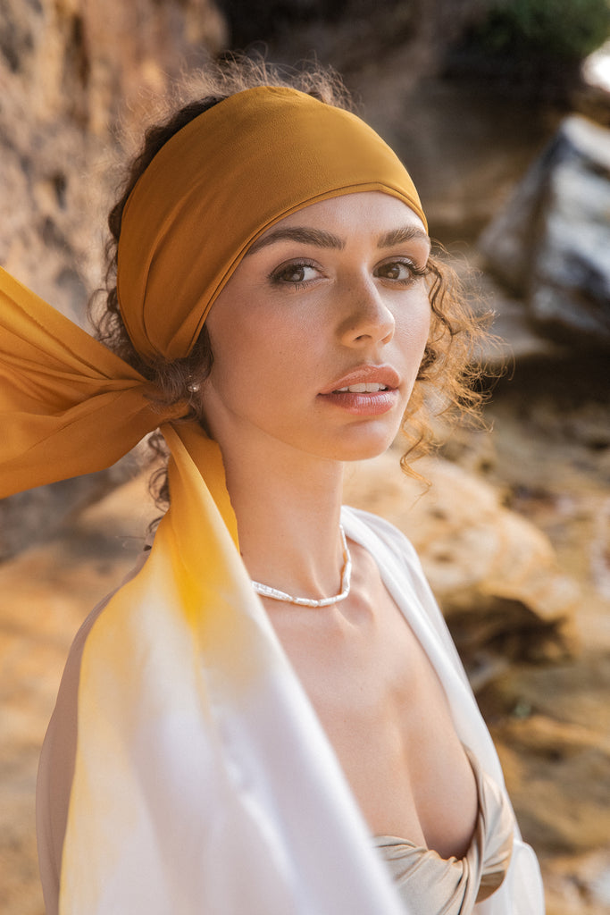 Silk Headscarf, Sunset Ombre