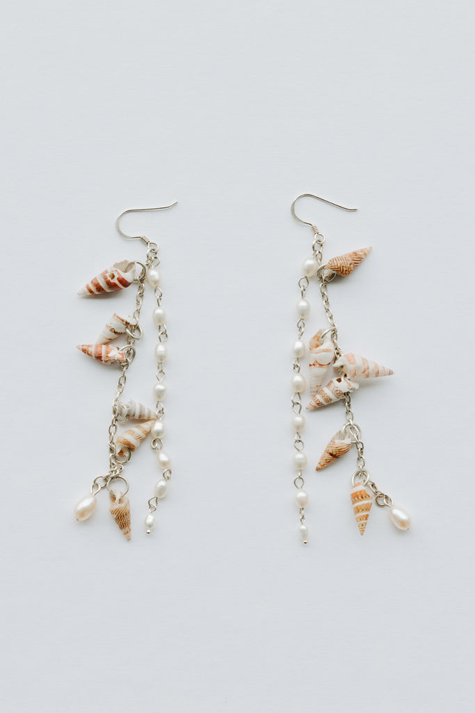 'NGALUWI' BANDED KELP SHELL EARRINGS - ARRIVING DEC