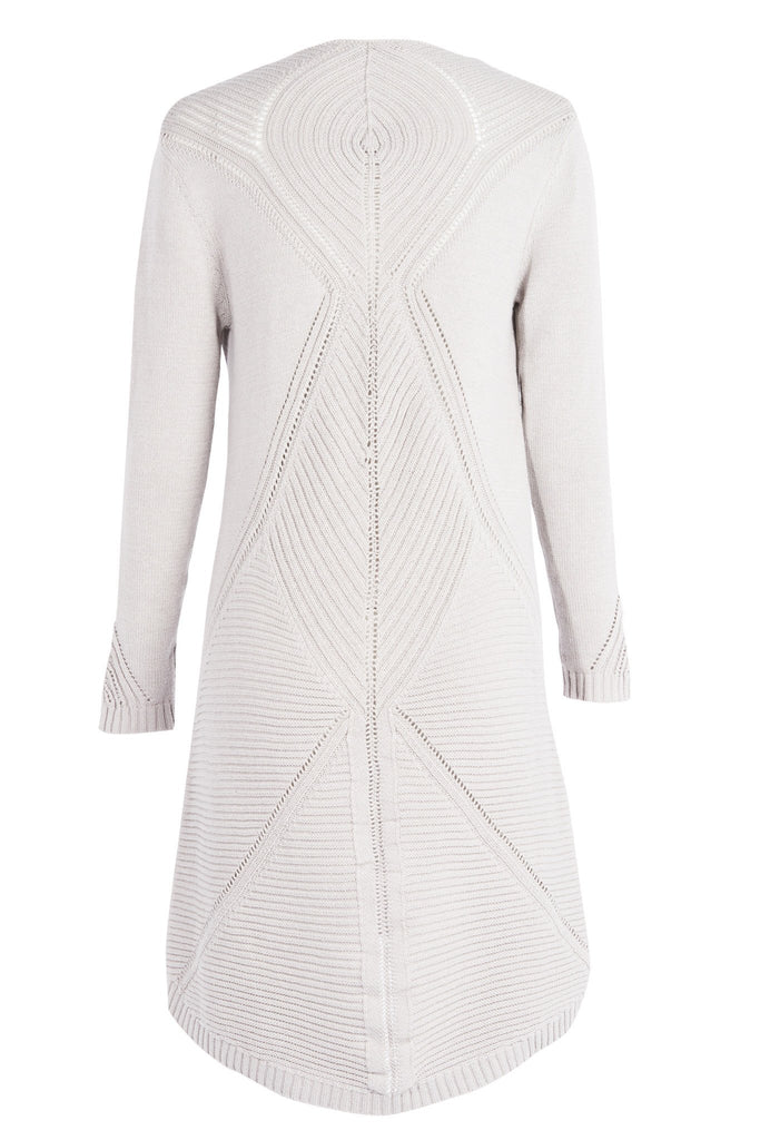 'LEILA' Knit Dress with Back Detail, Ash