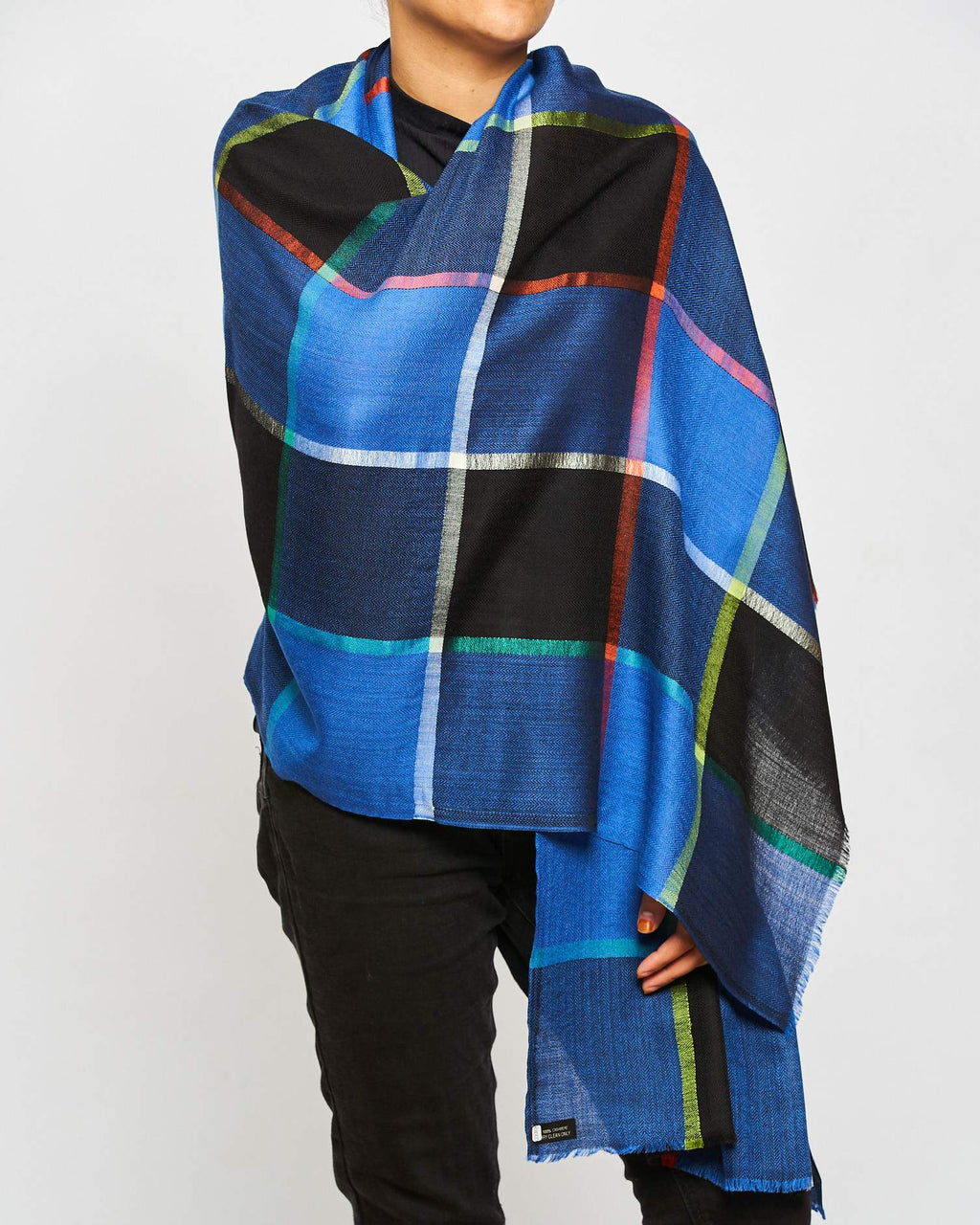 Cashmere - Large Check Blue/Black