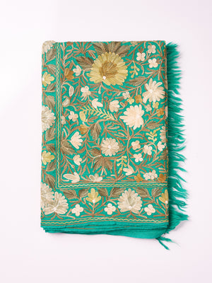 Embroidered Shawl - Green