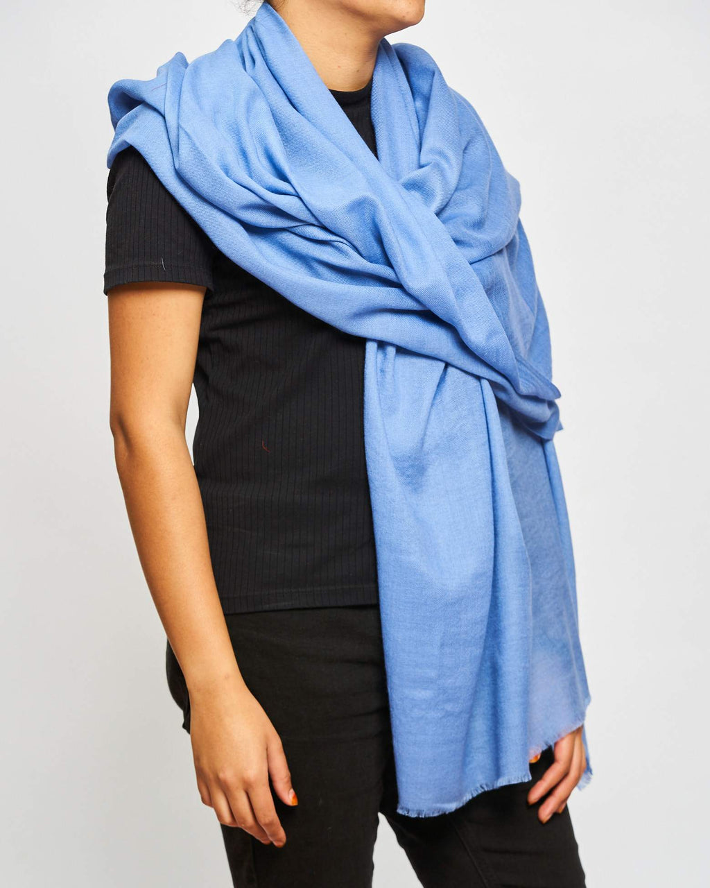 Cashmere Plain - Cornflower Blue
