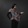 Digital Print Scarf- Purple/Black