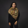 Embroidered Shawl - Black/Gold