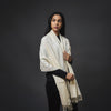 Embroidered Shawl - Cream/White