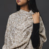 Fine Cashmere Shawl Patterned - Fawn