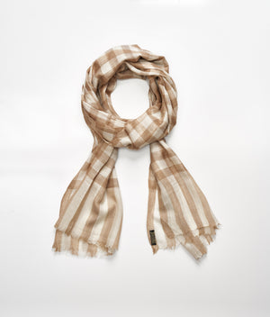 Men's cashmere scarf - Beige/Cream Check