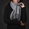 Mongolian Wool Scarf - Grey