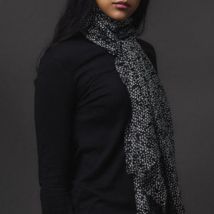 Pure Silk - Black with Grey Detail