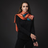 Pure Silk - Orange/Blue/Pink