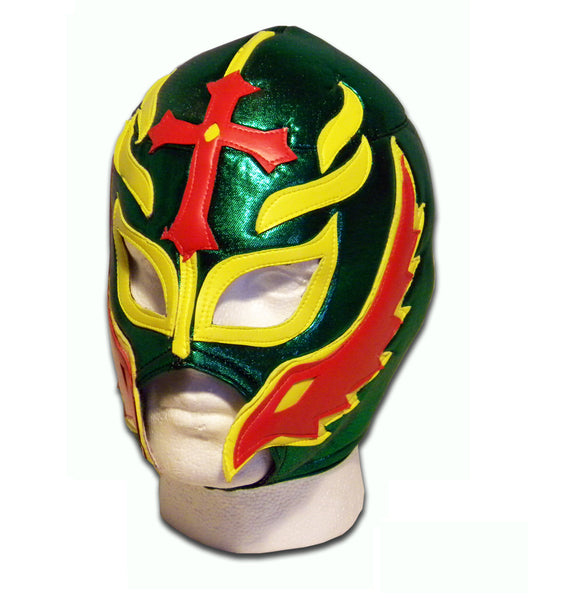 Son of devil green wrestler mask