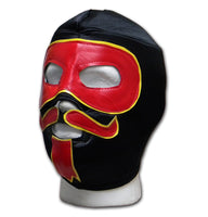 Mexican black yellow red adult size Luchador Wrestler mask