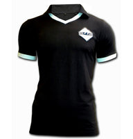 Lazio retro navy blue cotton football shirt