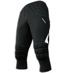 Ichnos black white 3/4 padded football goalkeeper shorts