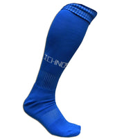 ichnos royal blue football socks adult size knee high