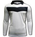 Ichnos adult size long sleeves white black team football shirt