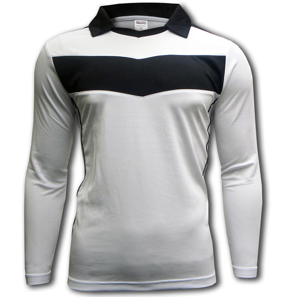 Ichnos white black chevron soccer football kit jersey long sleeves shirt