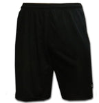 mens black team kit football shorts
