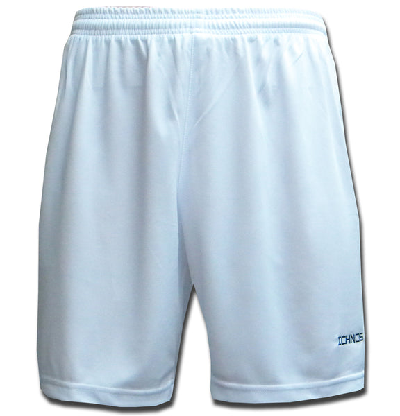 Ichnos white team kit polyester sport football shorts adult size