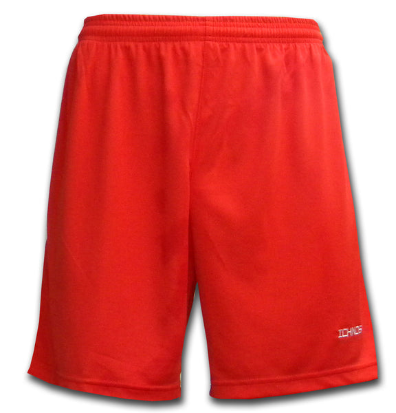 Ichnos polyester red football kit team shorts adult size
