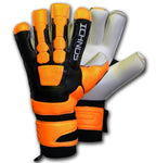 Ichnos black orange goalkeeper gloves