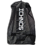 Ichnos black white jumbo football ball sack holder with shoulder strap