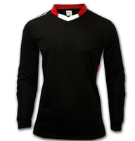 Ichnos padded long sleeves goalkeeper football shirt senior black