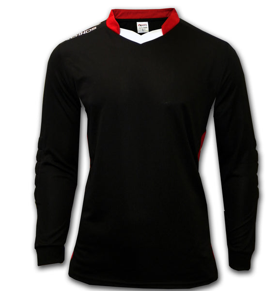 Ichnos adult size long sleeves black goalkeeper football shirt