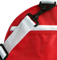 Ichnos Sport Gym Duffle Active Weekend Holdall Bag Red White