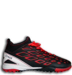 Ichnos Efesto turf football sock boots Senior black red