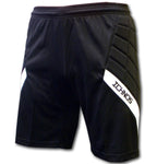 ichnos black white padded protection soccer football goalkeeper shorts adult size