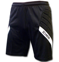 ichnos black padded protection children youth junior football goalkeeper shorts