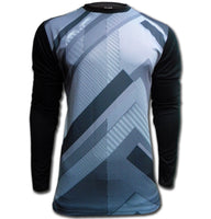 Ichnos black grey padded football goalkeeper shirt