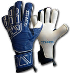 ichnos vertex navy blue silver football finger saver goalkeeper gloves