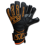 ichnos junior kids children size black orange finger save protection football goalkeeper gloves