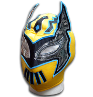 Sin cara yellow adult size Mexican lucha libre wrestling mask