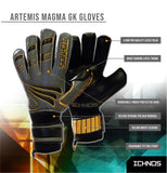 Ichnos Artemis Magma Finger Saver football Goalkeeper Gloves Senior grey