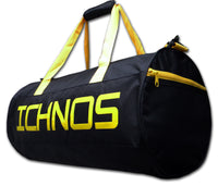 Ichnos Sport Gym Duffle Haldall Bag Black Yellow