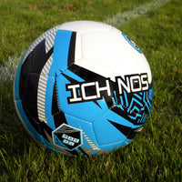 Ichnos Snazzer Junior Kids football match ball White / Blue