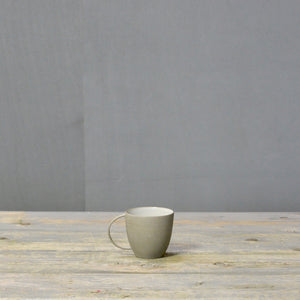 Stone & Color | Grey + White -Cappuccino cup with handle.