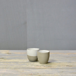 N&S Stone + Color - Espresso combi - set of 2 white.