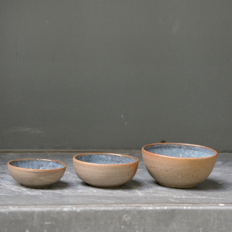 Recycled N&S - mini nesting bowls - 3 little bowl set in deep sea.