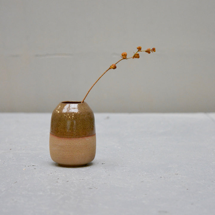 Rock - Amber - one of the tiniest vases.
