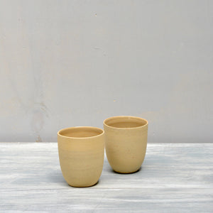 Cafe Lungo Rock cups no handles - Straw